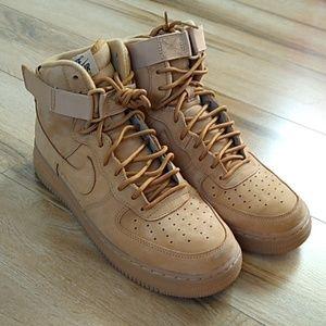 Nike Air Force 1 High '07 LV8 wheat sz 10 NWOT